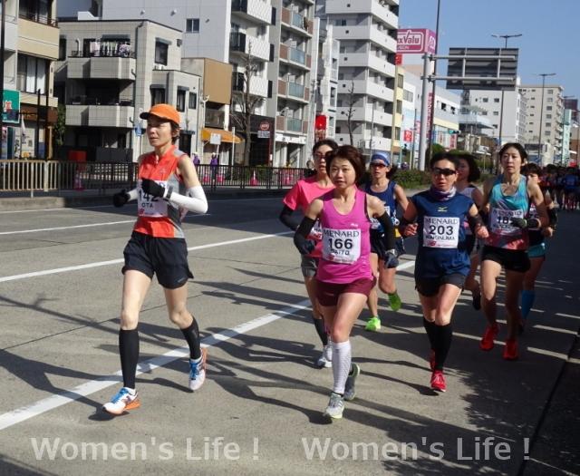 斎藤綾乃選手、太田 美紀子選手、柿沼 久代選手 名古屋ウィメンズマラソン
