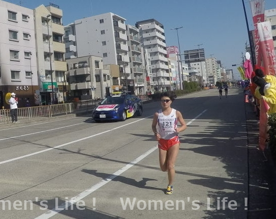 新立 啓乃 選手の走り 名古屋ウィメンズマラソン2018