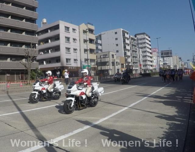 名古屋ウィメンズマラソン2018 白バイ