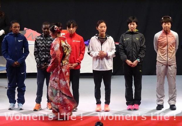 名古屋ウィメンズマラソン表彰式